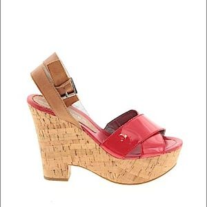 Marc Fisher Red Wedges